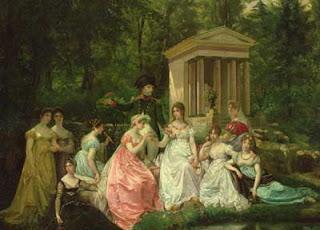 Bonaparte et Joséphine à la Malmaison