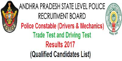 AP PCs Drivers & Mechanics Trade Test Driving test results 2017