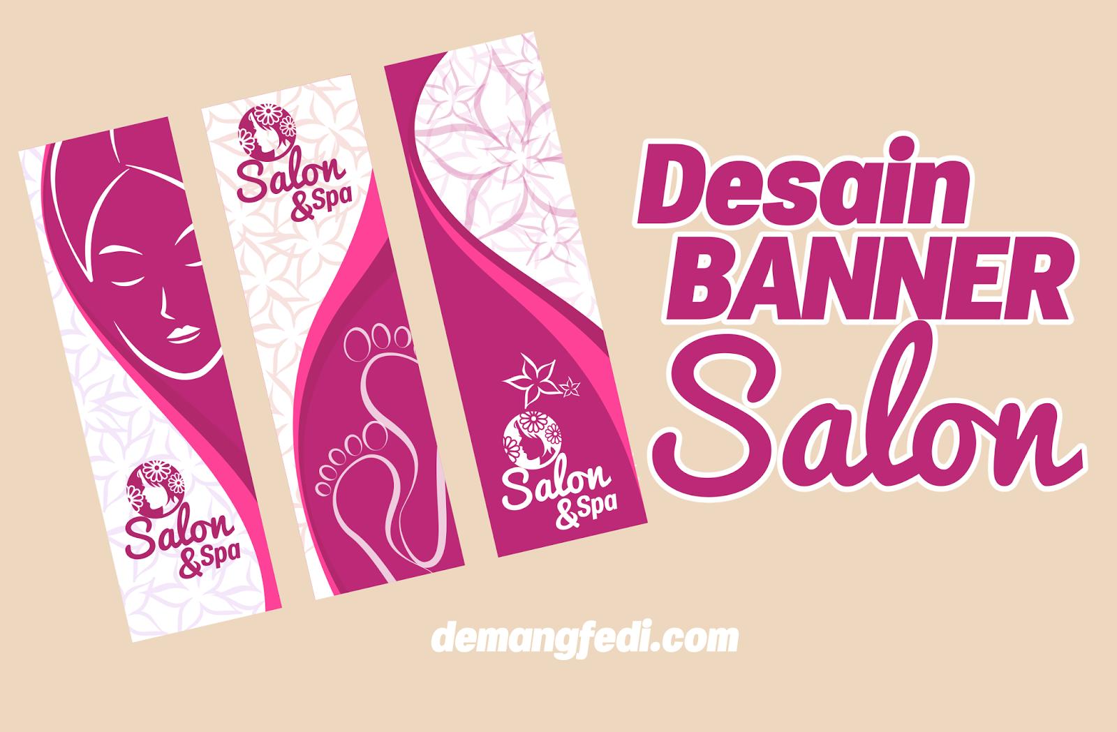Desain Banner Salon dan Spa CDR