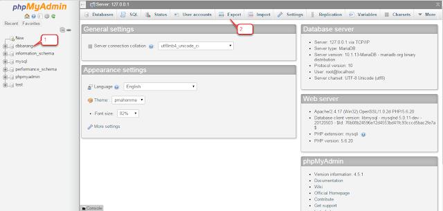 BACKUP / EXPORT DATABASE MYSQL