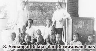 Semangat Belajar dan Berwawasan Luas merupakan sifat dan keistimewaan R.A. Kartini yang wajib diteladani
