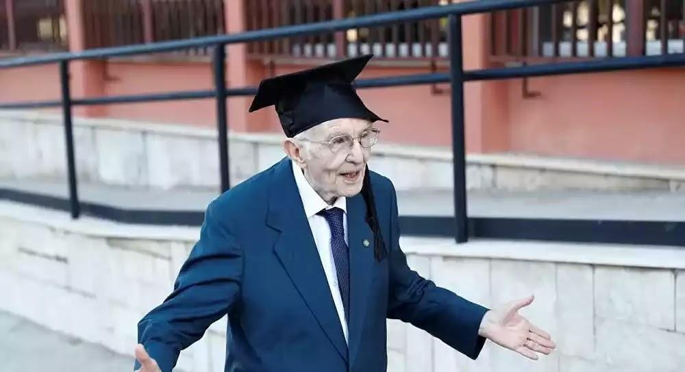 Πήρε πτυχίο στα 96 του χρόνια: έκανε το όνειρό του πραγματικότητα - σοβαρά όνειρα ειναι είχε ο γερός!