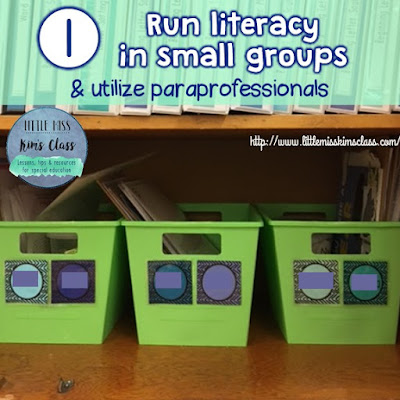 Literacy / Reading Groups in Special Education