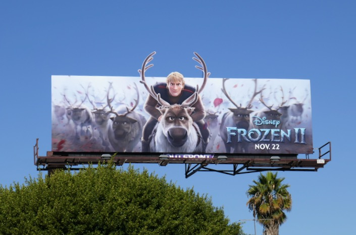 Kristoff Frozen II cut-out billboard