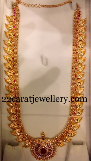 73 Grams Plain Haram In 22kt Gold Jewellery Designs