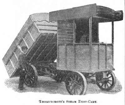 Steam dust cart