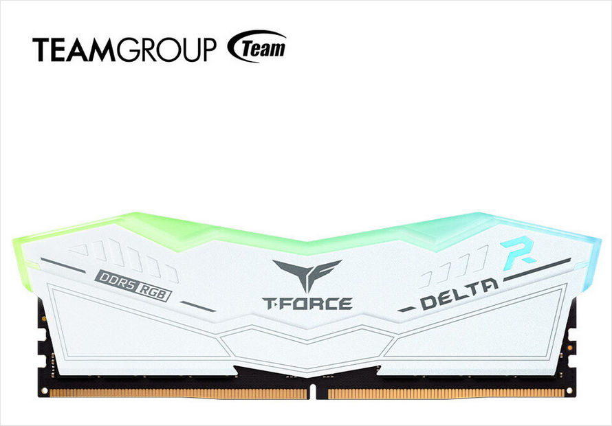Beyaz T-FORCE DELTA RGB DDR5 modülü
