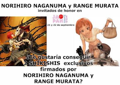 Firmas de Norihiro Naganuma y Range Murata en el Japan Weekend Madrid.