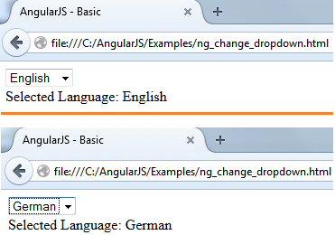 ng-change directive with Dropdown list | C# Guide - C#, Asp