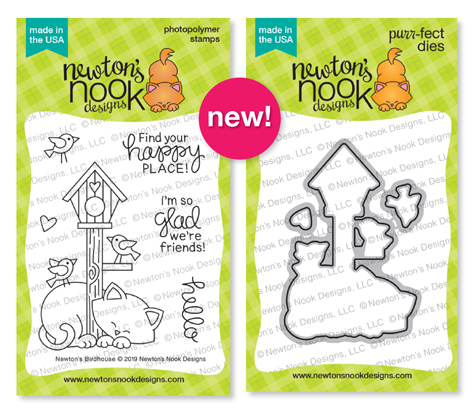 Newton's Birdhouse | Birdhouse and Cat Stamp Set by Newton's Nook Designs #newtonsnook