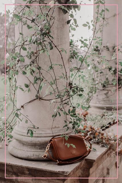 Ralph Lauren designer tan brown crossbody handbag