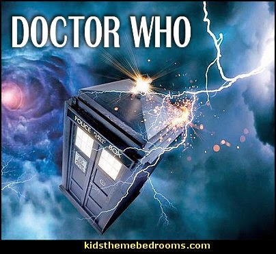 Doctor Who bedroom ideas- Doctor Who themed bedroom ideas - decorating Doctor Who theme -  Doctor Who decor - Doctor Who Bedding - dr who bedroom ideas - Dr Who Tardis  Doctor Who Dr Who decorations