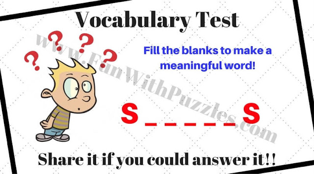Vocabulary Test Brain Teaser