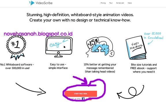 Cara Sign Up, Instal dan Log In di aplikasi Sparkol VideoScribe Free Akun untuk membuat video animasi untuk presentasi pembelajaran.1