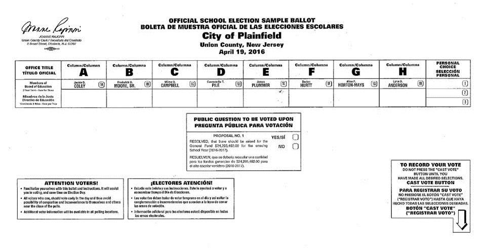 Plainfield League of Women Voters: TUESDAY, APRIL 19 SCHOOL BOARD ...