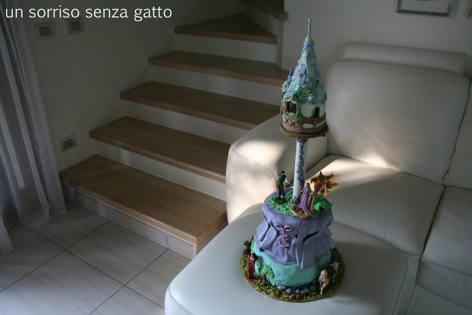 Eccezionale Un sorriso senza gatto: Compleanno con torta Rapunzel PE83