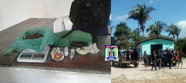 Polícia prende dois e apreende drogas e motos roubadas em São Benedito/MA