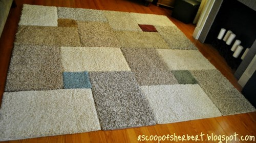 How To Easily Make Your Own Giant Area Rug