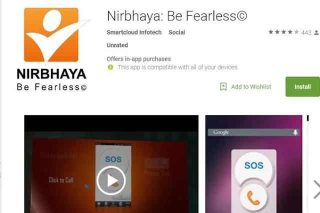 Nirbhaya safety app