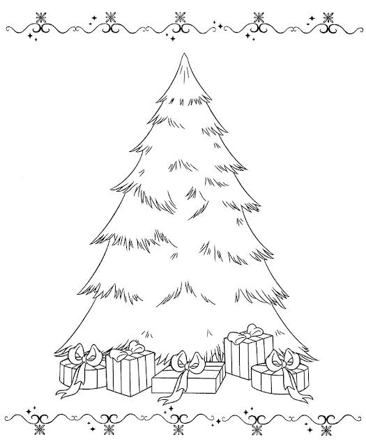Gambar Mewarnai Pohon Cemara - 7
