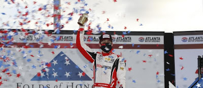 Ryan Blaney win the Folds of Honor QuikTrip 500
