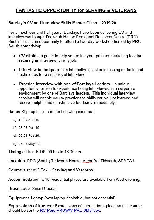 Salisbury Plain Hive Cv And Interview Skills Master Class