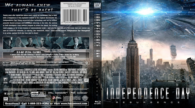 Independence Day Resurgence Bluray Cover
