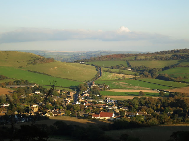Looking down on Chideock, Dorset