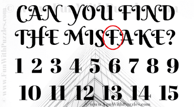 Find the Mistake Picture Riddle for Teens-Answer