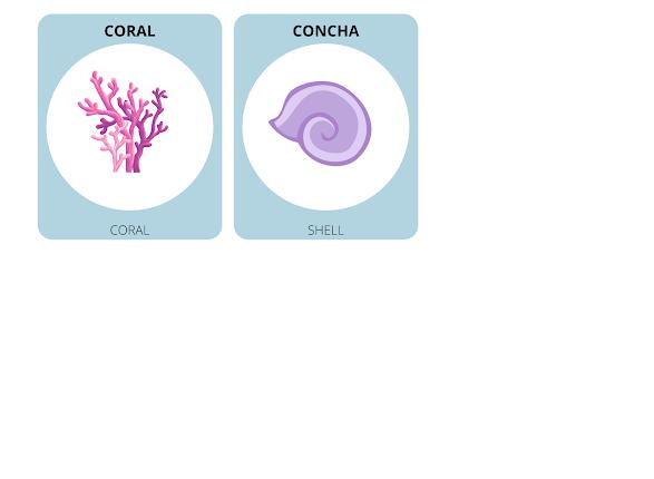 sea animals in Spanish