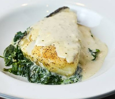 Foil Baked Chilean Sea Bass with Lemon Parmesan Cream Sauce #dinner #comfortfood