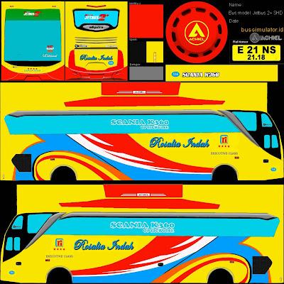 tema bus rosalia indah kuning