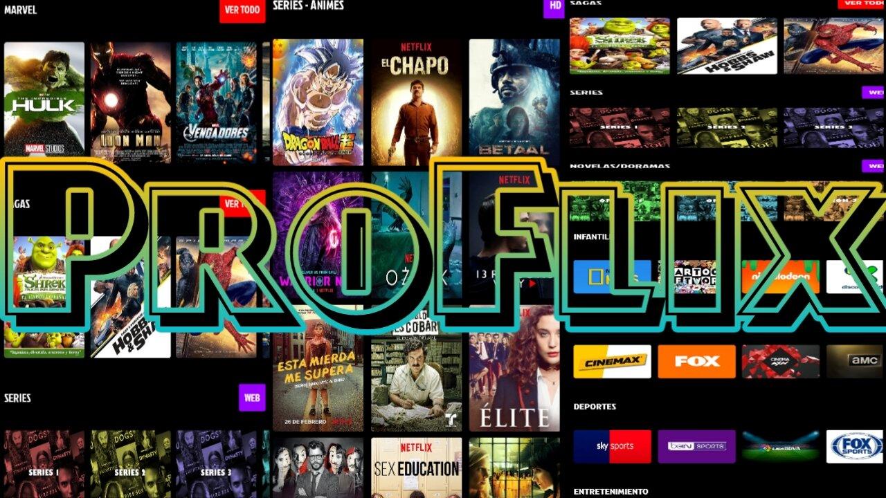تطبيق للفئة الذهبية لمشاهدة محتوى لاتينا كاملا من قنوات وافلام ومسلسلات/Proflix
