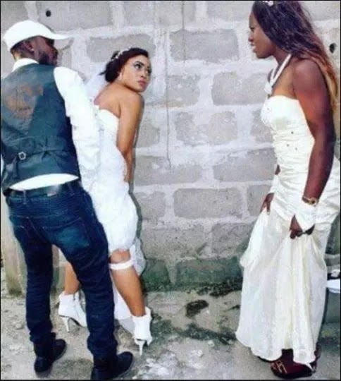 Bride has sex with bridesmaid