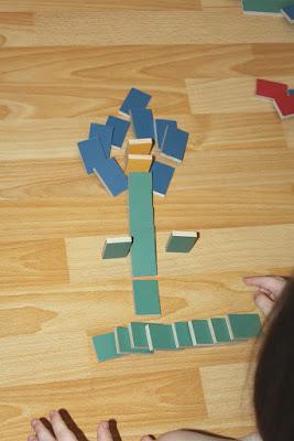 des dominos en bois pour enfants