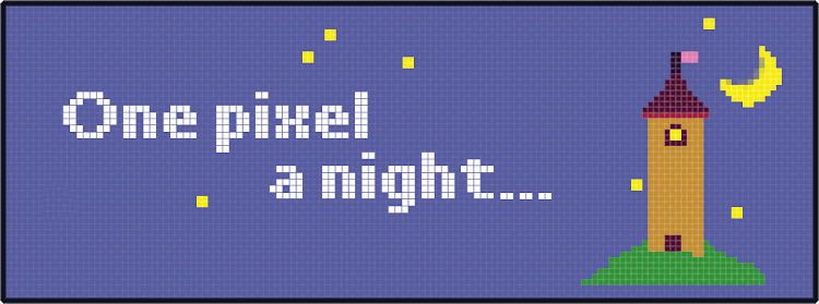 One pixel a night... by GamyGirl