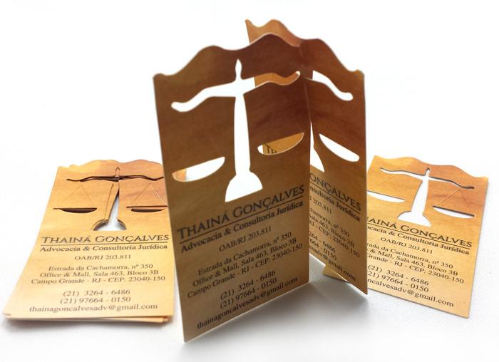 Cartão de Visita da advogada Thainá Gonçalves