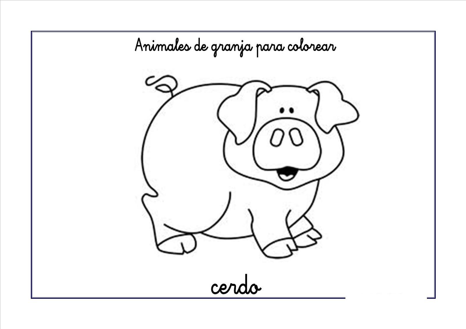 Dibujos para colorear: Animales de granja