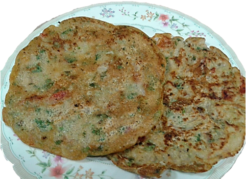 Quick Recipe - Wheat Chilla Recipe for school going boys and working women.