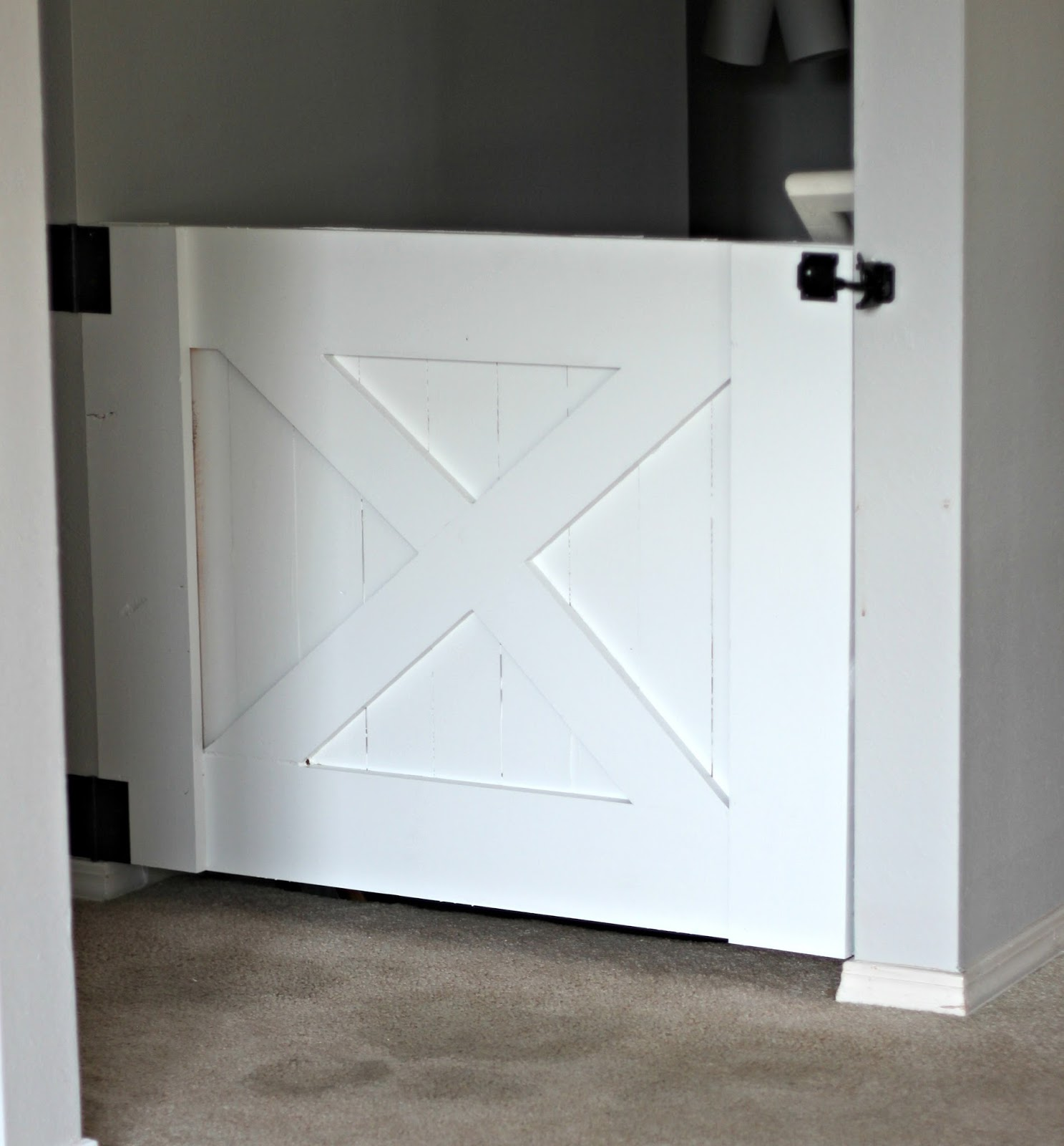 Rose Co Blog 30 Minute Diy Barn Door Baby Gate