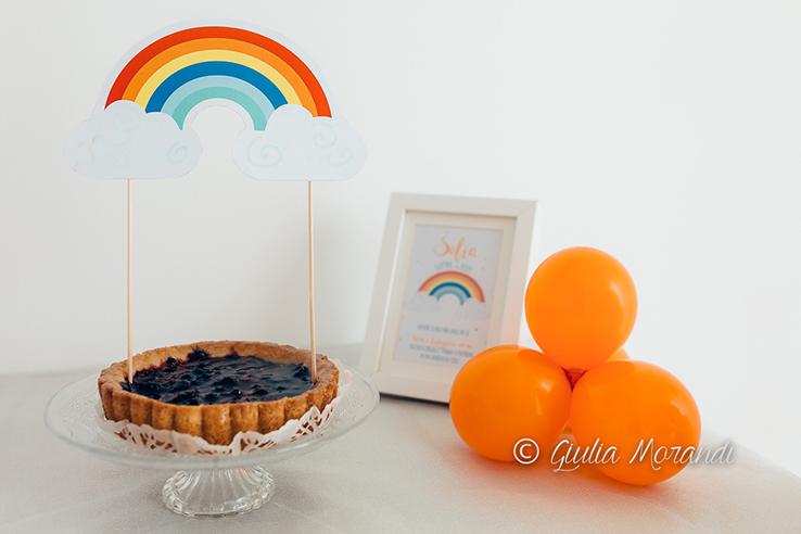 topper per torta a forma di arcobaleno