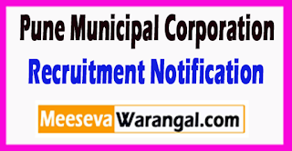 PMC Pune Municipal Corporation Recruitment Notification 2017 Last Date 22-06-2017