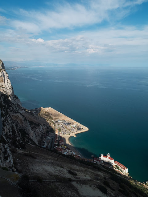 View of the Bay of Gibraltar from the top of the rock.
