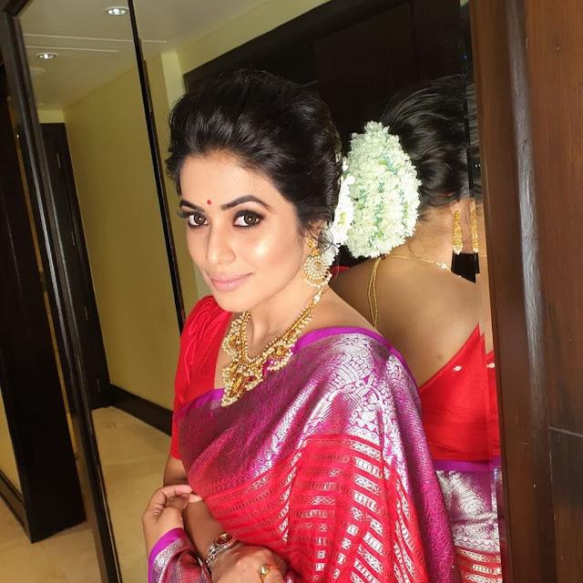 Actress Poorna New Saree Photoshoot Pics