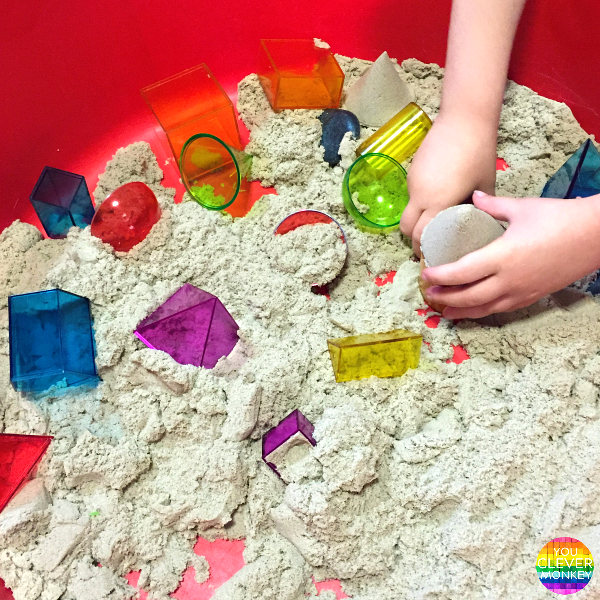 3D Shapes and Kinetic Sand | you clever monkey