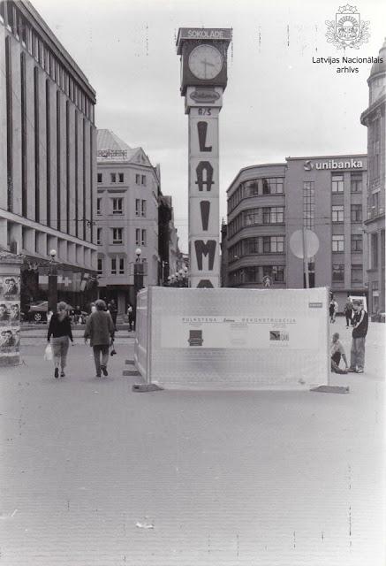 Laimas pulksteņa rekonstrukcija. Rīga, 1999.gads 8.augusts. Autors: Zenta Auziņa, LNA LVKFFDA