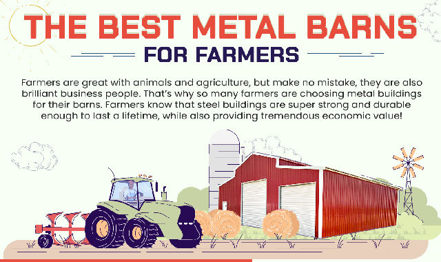 The Best Metal Barns for Farmers #infographic