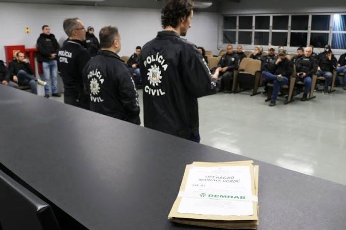 Operação Mancha Verde que combate crimes no DEMHAB teve buscas em Cachoeirinha