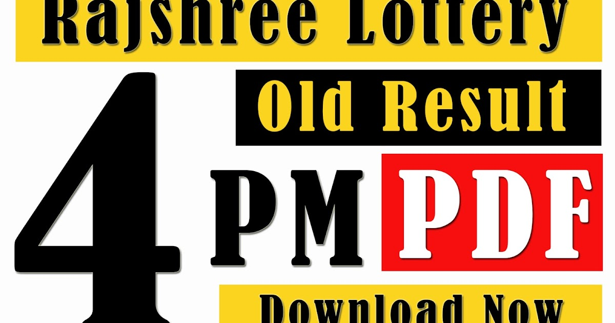 Rajshree Lottery Old Result 4pm Goa State Lottery - Goa