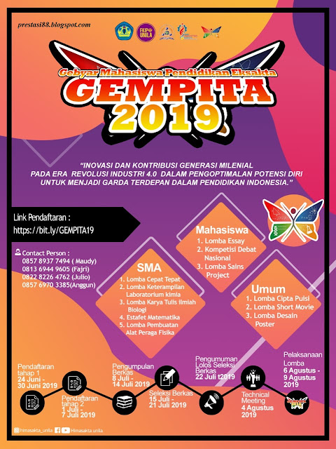 GEMPITA (Gebyar Mahasiswa Pendidikan Eksakta 2019)